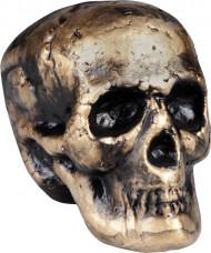 Décoration crâne doré 17 x 14 cm