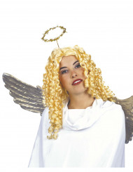Perruque ange bouclée adulte