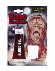 kit faux sang gel avec bandage Halloween