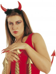 Cornes diable rouges adulte Halloween
