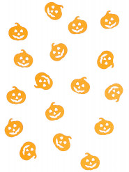 Confettis de table citrouille Halloween 10 grammes