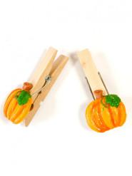 4 Pinces citrouille Halloween