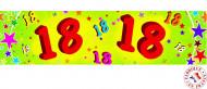 Banderole papier 18 ans 0,16x2,44m