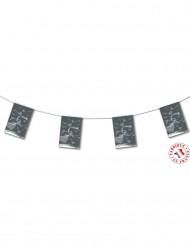 Guirlande fanions mariage gris argent 4m