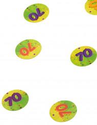 150 confettis de table 70 ans