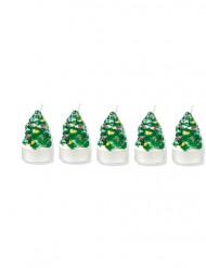 5 Bougies chauffe-plat sapin de Noël