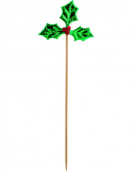 12 Pics houx de Noël 18 cm
