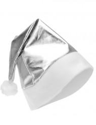 Bonnet métallisé argent adulte Noël
