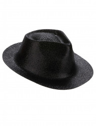 Chapeau pailletté noir adulte