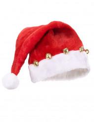 Bonnet de Père Noël avec grelots