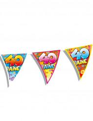 Guirlande fanions anniversaire 40 ans