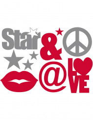 Stickers Star and love 50x70 cm