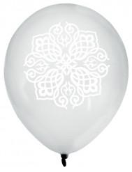 8 Ballons Mariage Oriental argent