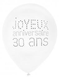 8 Ballons 30 ans Anniversaire chic