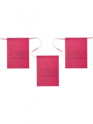 Guirlande fanions rose Anniversaire Chic