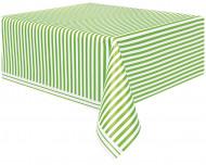 Nappe rayée verte et blanche