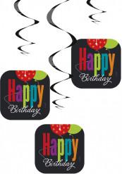 3 Décorations à suspendre Happy Birthday