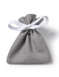6 Sachets coton gris souris