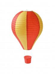 Mini montgolfière bicolore orange et jaune 13 x 22 cm