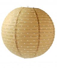 Lanterne japonaise imprimée biscuit pois 35 cm