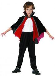 Cape vampire rouge et noire enfant