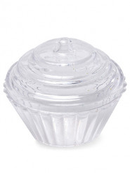 3 Cupcakes en plastique transparent