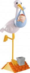 Figurine cigogne petit garçon 13 cm