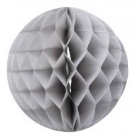 Boule papier alvéolée gris clair