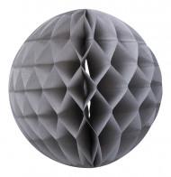 Boule papier alvéolée gris souris 30 cm