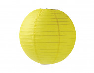 Lanterne japonaise jaune 35 cm