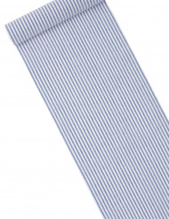 Chemin de table rayé bleu marine et blanc