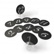 12 Marques table rond noir 12.7 cm