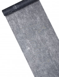Chemin de table intissé gris pailleté imprimé