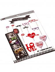 Kit photobooth mariage thème moustaches et lunettes