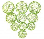 10 Boules acier tressé vert anis