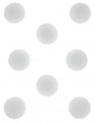 10 Petits napperons blancs papier dentelle - 11.5 cm