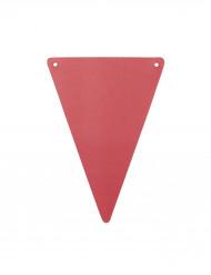 5 Fanions DIY rouges en carton