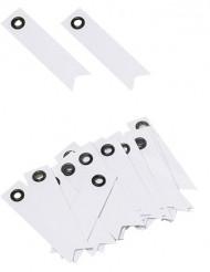 20 Etiquettes fanion blanches