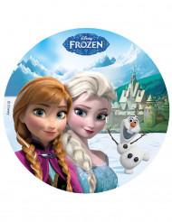 Disque en sucre 16 cm La reine des neiges™