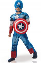 Déguisement luxe Captain America™ Avengers rembourré garçon
