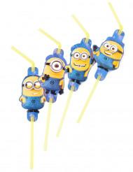 8 Pailles flexibles Minions ™