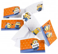 6 Invitations et Enveloppes Minions ™