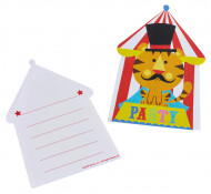 8 Invitations et enveloppes Fisher Price Circus ™
