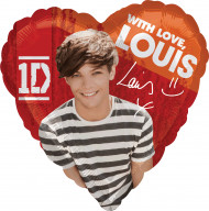 Ballon en aluminum Louis des One Direction ™ 43 cm