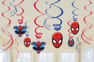 12 Suspensions Spiderman ™