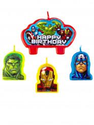 4 Bougies d'anniversaire Avengers ™