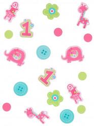 Confettis de table 1 an fille 34 gr