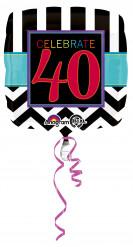 Ballon en aluminium 40 ans Celebrate your birthday