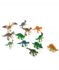12 figurines variées plastique dinosaures