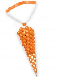 10 Sacs cônes pour bonbon orange